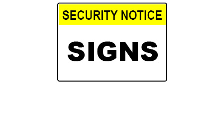 WHS Signage - Security