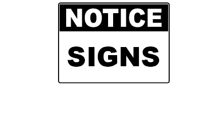 WHS Signage - Notice